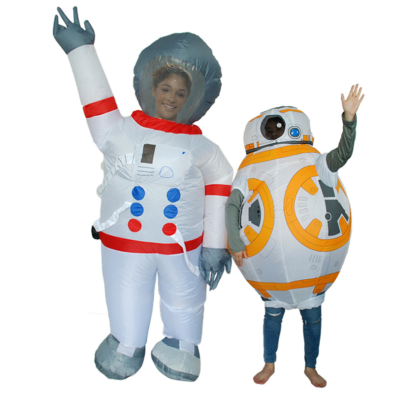 NEW Halloween Space suit Inflatable Costume For Children/Kids Star Wars Robot BB 8 Cosplay Costumes Party/Stage/Eduction