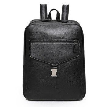 2019 Women Men Backpack Male Travel Backpack Mochila School Unisex PU Leather Business Bag Large Laptop Backbag Travel Bag rockcow handcrafted vintage style top grain leather backpack travel backpack unisex backpack 8904