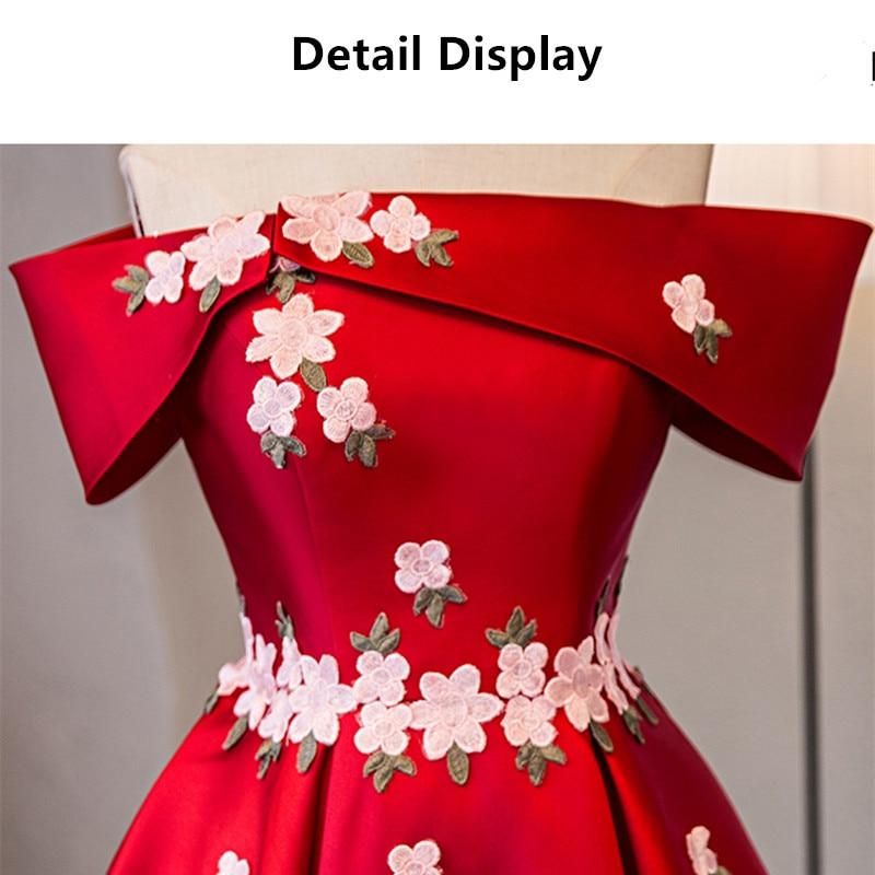 Op voorraad Echt foto rood boothals Korte mouw Plus size prom dresses - Jurken voor bijzondere gelegenheden - Foto 6