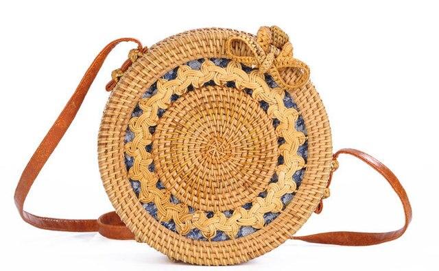 Ratten Bag Fashion Women S Handbag Round Straw Bags Women Handmade