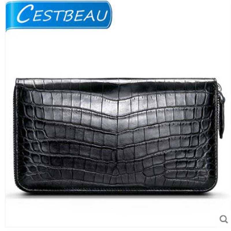 Cestbeau makes a full-leather Nile alligator long zip purse crocodile belly multi-card leather clutch bagCestbeau makes a full-leather Nile alligator long zip purse crocodile belly multi-card leather clutch bag
