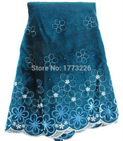 Wholesale And Retail Latest Embroidered Pattern With Sequins Design 5 Color Velvet Lace High Quality African