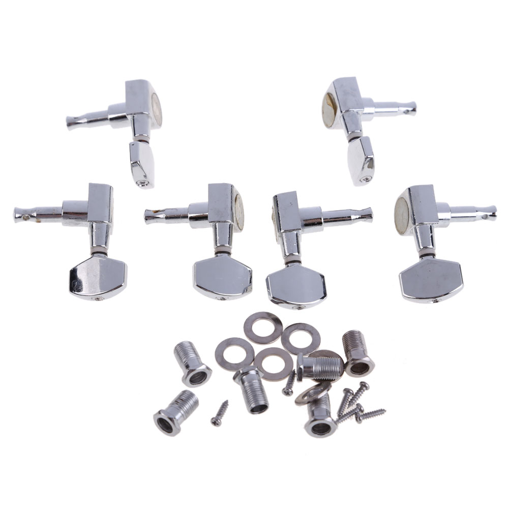 New Arrival 6 Chrome Guitar String Tuning Pegs Tuners Machine Heads Acoustic Electric Guitar Accessories a set of 6 pcs gold locked string guitar tuning pegs keys tuners machine heads for acoustic electric guitar