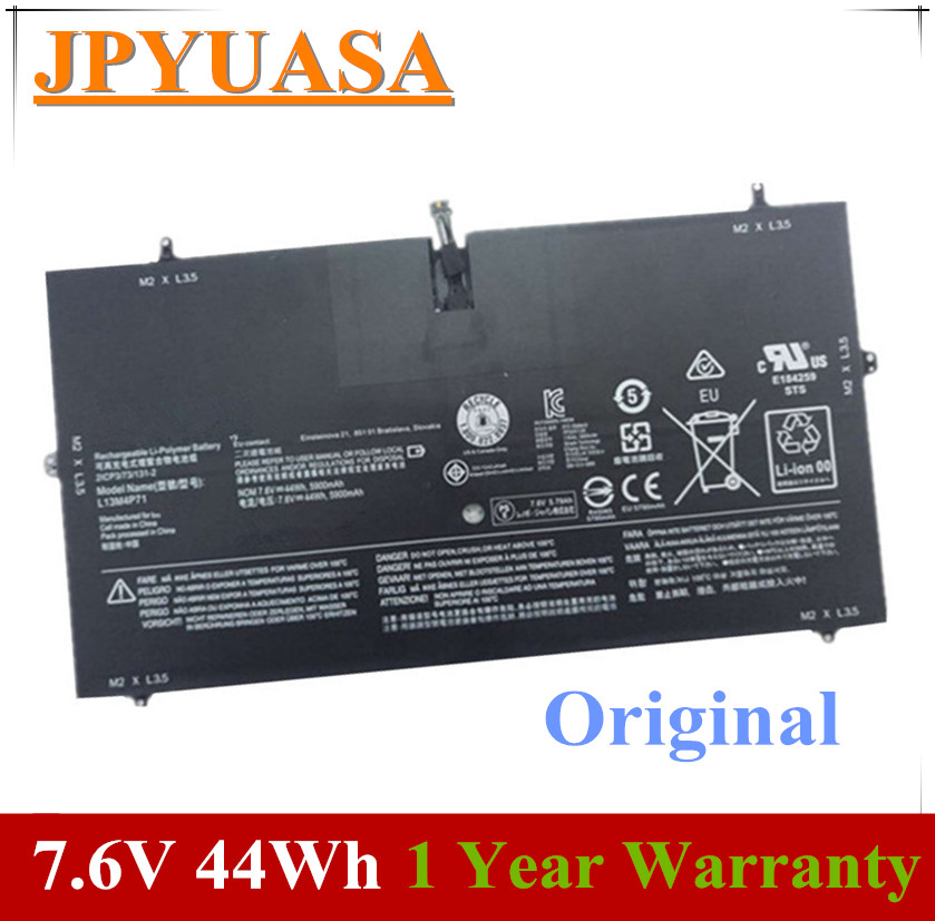 7XINbox 7.6V 44wh 5900mAh Original L13M4P71 Laptop Battery For Lenovo Yoga 3 Pro 1370 L14S4P71 Laptop batteria image