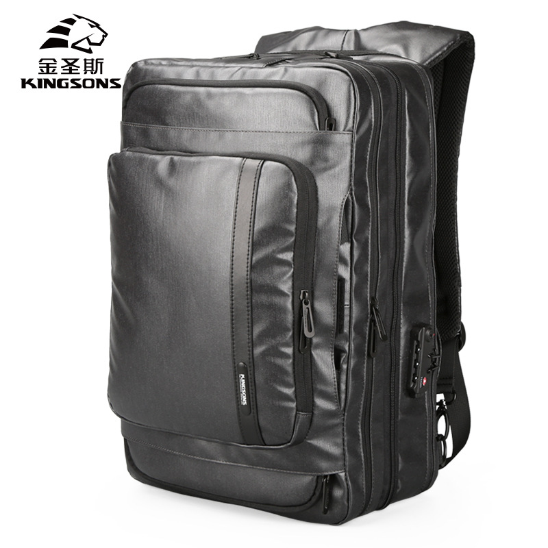Kingsons Mini Backpack Women Men 15.6 Inch Anti Theft Laptop Computer Bagpack Large Casual Shoulder Hand Bag with Lock KS3189W kingsons unisex anti theft shoulder bag computer men and women 14 15 6 13 inch laptop bag backpack anti theft backpack