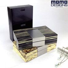 Деревянный ящик для хранения ювелирных изделий Деревянный чехол для ювелирных изделий с глянцевой отделкой шкатулка для путешествий