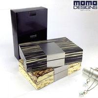 Bằng gỗ ngọc lưu trữ hộp Đồ Trang Sức Bằng Gỗ trường hợp Đàn Piano có độ bóng cao kết thúc Jewel box du lịch