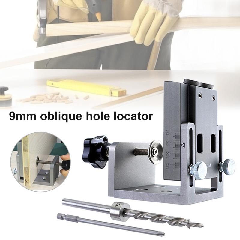 9mm Oblique Hole Locator High Accuracy Aluminum Alloy DIY Tools For Woodworking SLC88