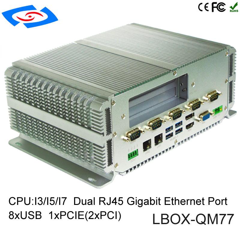 Military Quality Intel Core I3-3110M/I5-3210M/I7-3610QM Quad Core CPU Compact PC Onboard 2GB RAM Optional DDR3 4G/8G/16G RAM