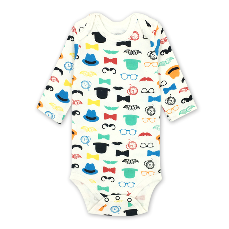 Pasgeboren baby jongens kleding 100% katoen met lange mouwen bodysuit - Babykleding - Foto 2