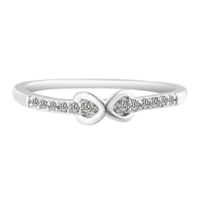 Women Crystal Infinity Symbol Love Ring Eternity Ring Wedding Ring