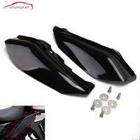 ABS Plastic Black Mid Frame Air Deflector Trim For Harley Touring Street Glide FLHX Electra Glide