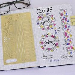 Günlük Planlayıcısı Şablonlar, pirinç Bullet Dergisi Stencil, Afiş, Bayrak, 4x7