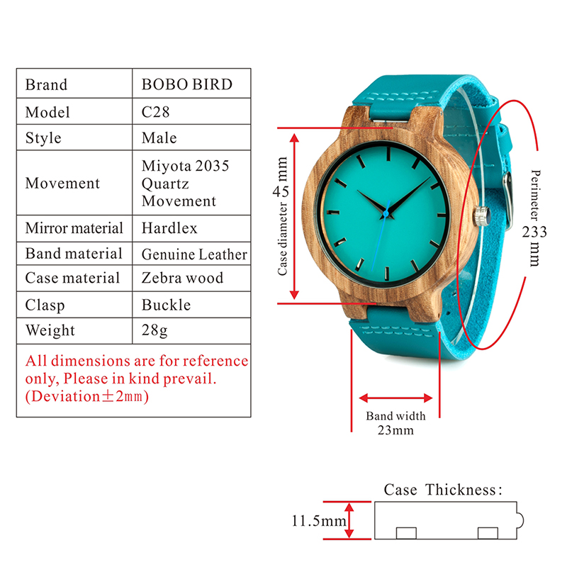 WOODEN WATCHES BOBO BIRD C28 GIFTS I (10)