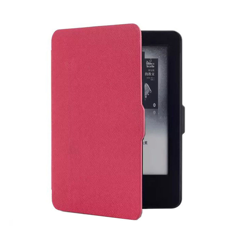 Lowest Price 8 Colors Luxury Ultra Slim PU Leather Smart Magnetic Ebook Cover Case Cover For Amazon Kindle Paperwhite 1/2 pu leather ebook case for kindle paperwhite paper white 1 2 3 2015 ultra slim hard shell flip cover crazy horse lines wake sleep