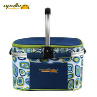 Apollo Cooler Bag 22L Multi function Thermal Food Box Cans Ice Bag Basket Bag Aluminum Foil Lunch Box