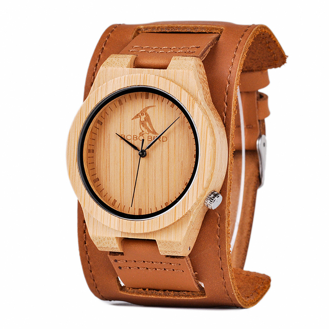 Men's Brown Genuine Leather Watch