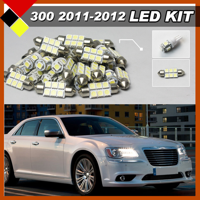 Car Suv Interior Exterior Map Dome License Plate Light Led Kit Package Bulbs12v White Suit For Chrysler 300 300c 2017 In Headlight Bulbs