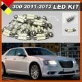Car SUV Interior & Exterior Map Dome License Plate Light LED Kit Package Bulbs12V White Suit For Chrysler 300 300C 2011-2012