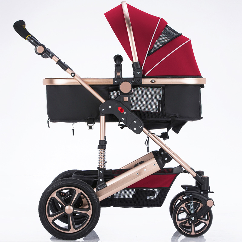 Babyfond Baby Stroller High Landscape Can Sit And Lie trolley  Shock Proof Foldable Pushchair Baby Stroller