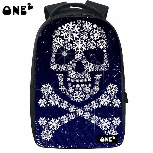 874f0a27bc ONE2 Design human skeleton school bag cheap practical high school students  teenager boys girls kid children