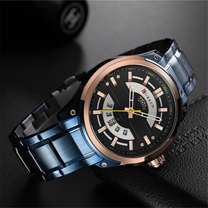 Image 2 - CURREN Watches Mens Stainless Steel Quartz Wristwatch With Calendar Casual Business Male Clock 30M Waterproof Relogio Masculino