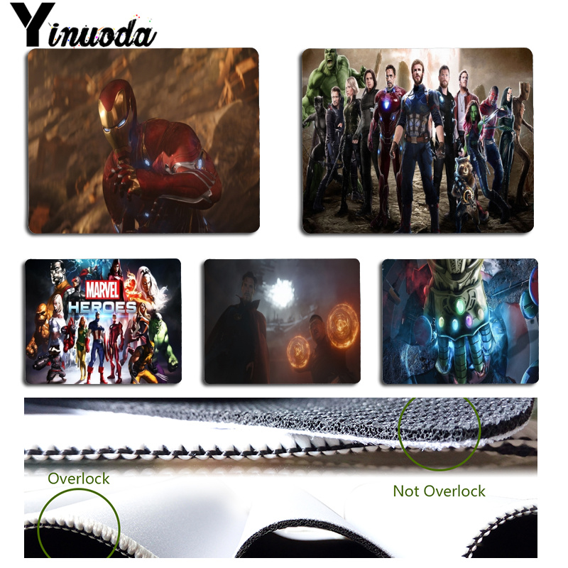 Yinuoda Top Quality Avengers Infinity War Office Mice Gamer Soft Mouse Pad Size for 180x220x2mm and 250x290x2mm Rubber Mousemats