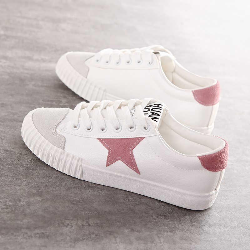 2016 new White shoes women canvas shoes leather summer casual shoes lace college students low flat girls fashion leisure shoes