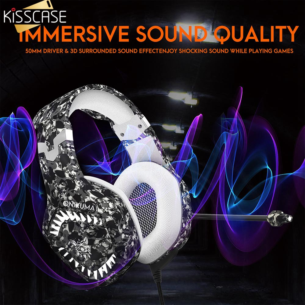 KISSCASE Wired Headphone With Mic For Xiaomi Headset Bass HiFi Sound Music Earphone For iPhone Samsung Universal Samrt Devices