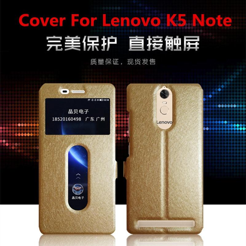 151a516852b5 Новый телефон чехол для Lenovo K3 K5 K6 Примечание Роскошный шелк текстура  Двойной Окно искусственная кожа флип чехол для Lenovo k3 K5 K6 Note 5.5 inck