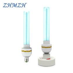 220 فولت UVC الأشعة فوق البنفسجية مصباح مبيد للجراثيم E27 المنزلية التعقيم مصابيح الأشعة فوق البنفسجية تطهير أضواء 15 واط 20 واط 30 واط عالية الأوزو...