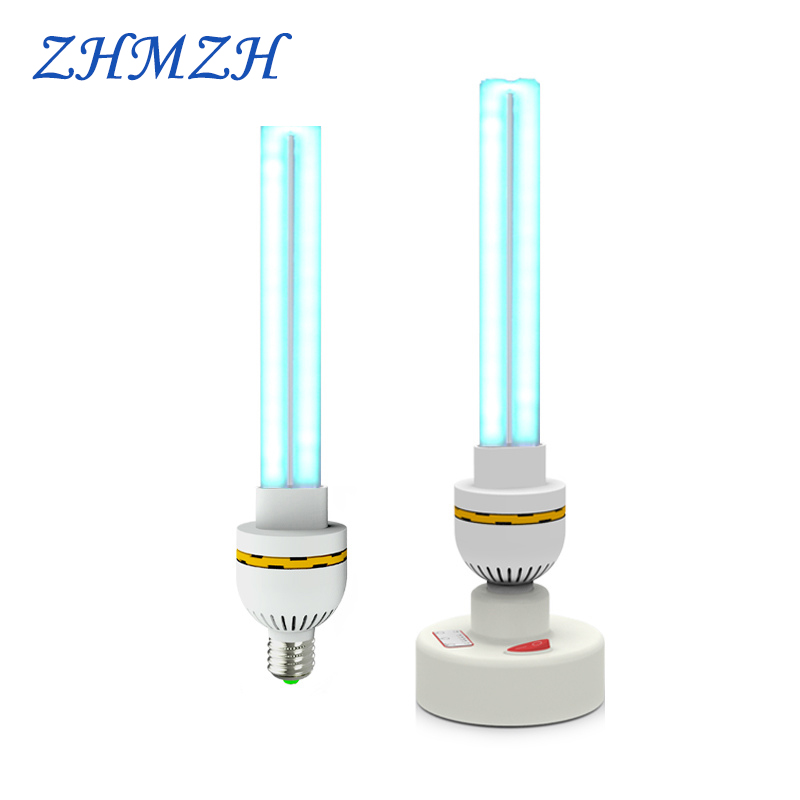 220V UVC Ultraviolet Germicidal Lamp E27 Household Sterilization Lamps UV Disinfection Lights 15W 20W 30W High Ozone Sterilizer