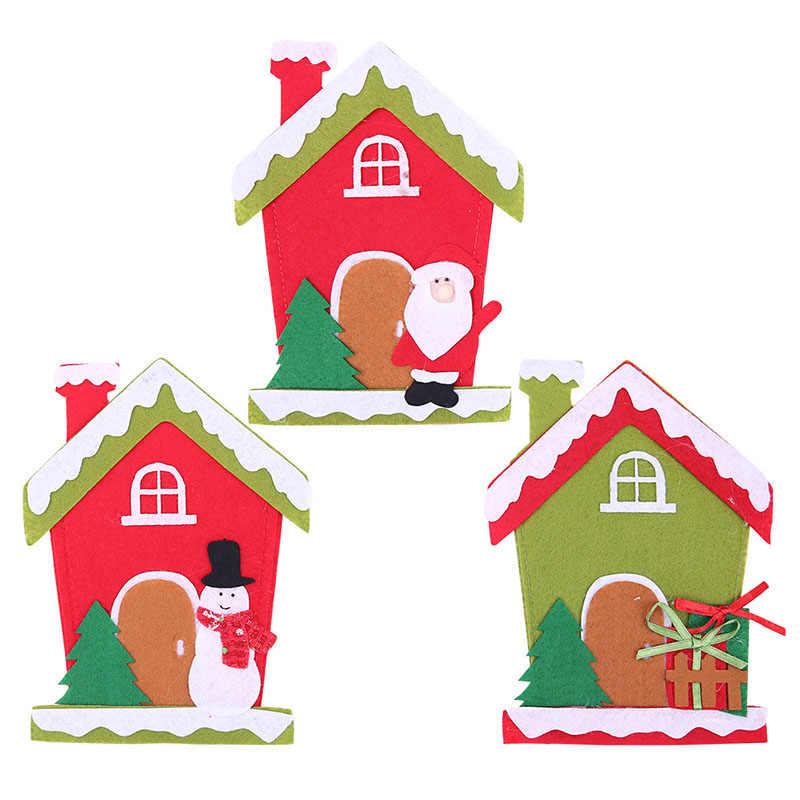 Chapéu de papai noel Da Rena Do Natal de Ano Novo de Bolso Faca Garfo Talheres Titular Saco Festa Em Casa Mesa de Jantar Decoração de Mesa 62416