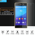 LEPHEE for Sony Xperia M5 Tempered Glass Screen Protector Protective Film Case for Xperia M5 Glass 9H Hard 2.5D Arc Edge