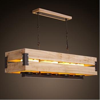 Nordic Loft Stil Marmor Kerze Rechteck Holz LED Anhänger Leuchten Für Hauptbeleuchtung Hängen Licht Aussetzung Leuchte