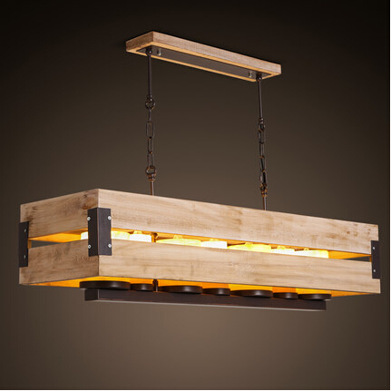 Nordic Loft Style Marble Candle Rectangle Wooden LED Pendant Light Fixtures For Home Lighting Hanging Light Suspension Luminaire