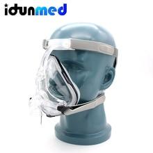 BMC Auto CPAP APAP BiPAP Full Face Respirator Mask Breathing With Adjustable Chin Headgear Strap For Sleep Apnea Anti Snoring