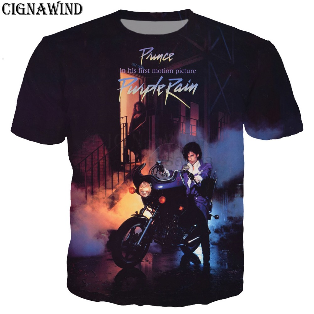 New design t shirt men/women hip hop Singer Prince Rogers Nelson 3D printed t-shirts Harajuku style tshirt streetwear tops