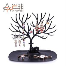 Creative deer tree jewelry rack bird storage necklace pendant earrings display props