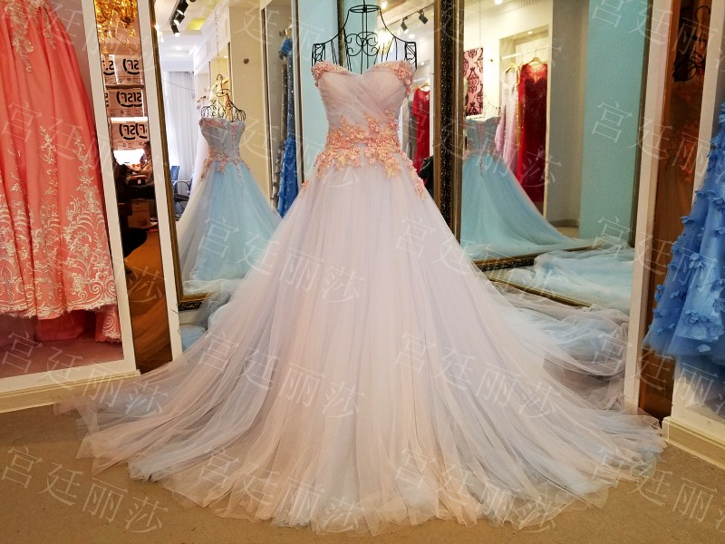 Vestito Da Sposa Western.Korea Style Off Shoulder Lace Wedding Dress 2017 Western Romantic