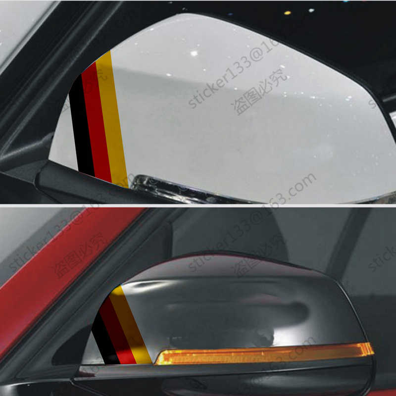 2 X Flag of Germany German Rearview Side Mirror Decal Sticker for Benz Audi BMW etc. Reflective.High quality!