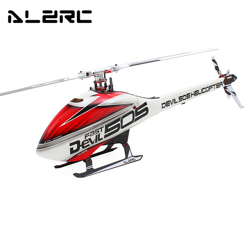Free Shipping ALZRC Devil 505 FAST RC Helicopter Kit CNC Metal RC Toys Gifts alzrc devil 380 fast fiberglass painting canopy set s a s b