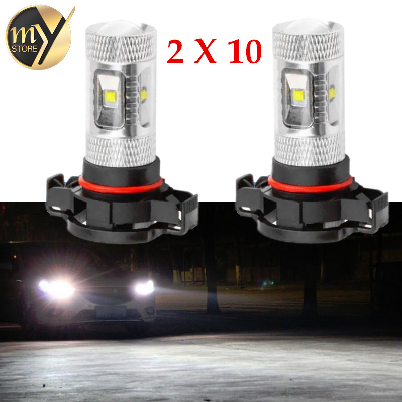 20pcs Cree Chips LED H16 30W White Lamp car Fog Bulb auto Vehicles parking Signal Reverse Tail Lights car light source free shipping h1 led 30w fog light high power cree led bulb 12v auto led car light bulb white automotive led auto xenon parking