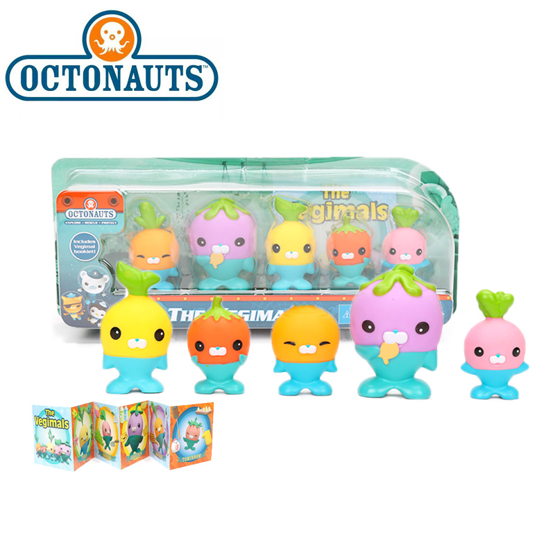 New 5-Pack 4.5-6cm Octonauts Toys The Vegimals PVC Action Figure Octonauts Accessories Party Supplies Seahorse Starfish Sailfish
