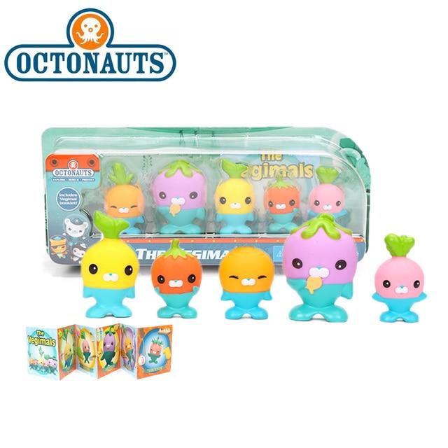 New 5 Pack 4.5 6cm Octonauts Toys The Vegimals PVC Action Figure Octonauts Accessories Party Supplies Seahorse Starfish Sailfish
