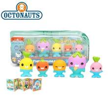 Yeni 5 Pack 4.5 6cm Octonauts oyuncaklar Vegimals PVC Action Figure Octonauts aksesuarları parti malzemeleri denizatı denizyıldızı yelken balığı