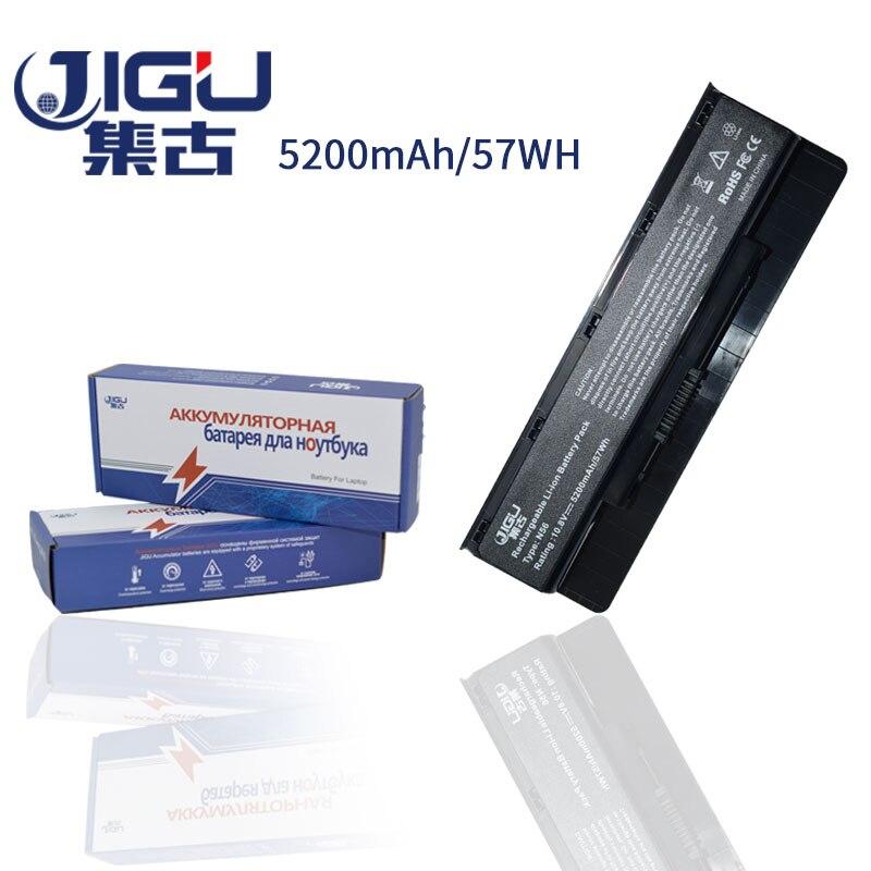 JIGU 5200mAH Laptop Battery For Asus N46 N56 N76 N46VJ N46VM N46VZ N56DP N56VJ N56VM N76VJ R500VD N76VZ N76VM A32-N56 6Cells цена