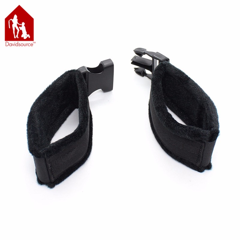 Davidsource Furry Soft Handcuffs Wrist Cuff With Snap-Fit Buckle Binding Kit Bondage Restraints Fetish Wear Sex Toys 4