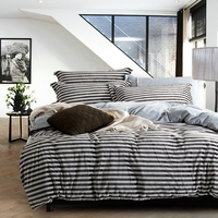 Coffee stripe Winter Bedding set Fleece fabric bedlinen duvet covers/bed sheets bed clothes romantic bedspreads queen/king size