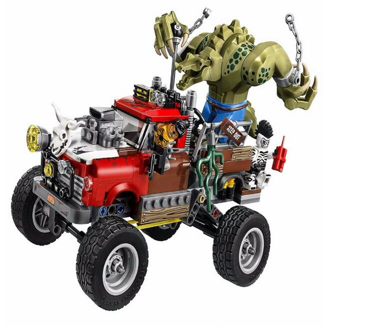 Compatible batman 70907 Lepin 07051 super heroes movie blocks Killer Croc Tail Gator toys for children building blocks